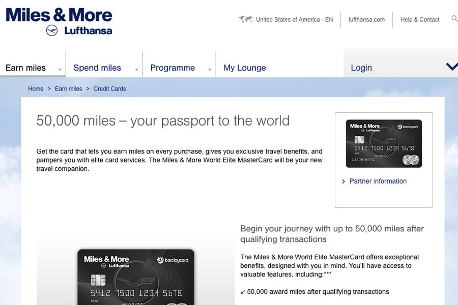 50K Lufthansa Miles & More Signup Bonus Offer