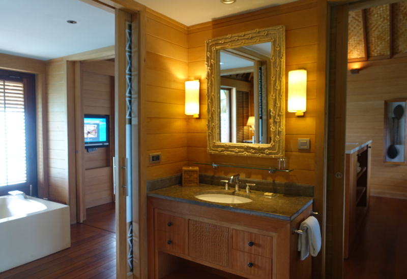 One of the Two His and Hers Sinks, Four Seasons Bora Bora Review