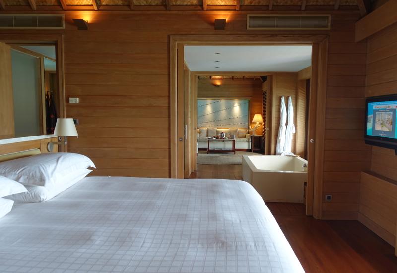 Four Seasons Bora Bora Overwater Bungalow Bedroom Review