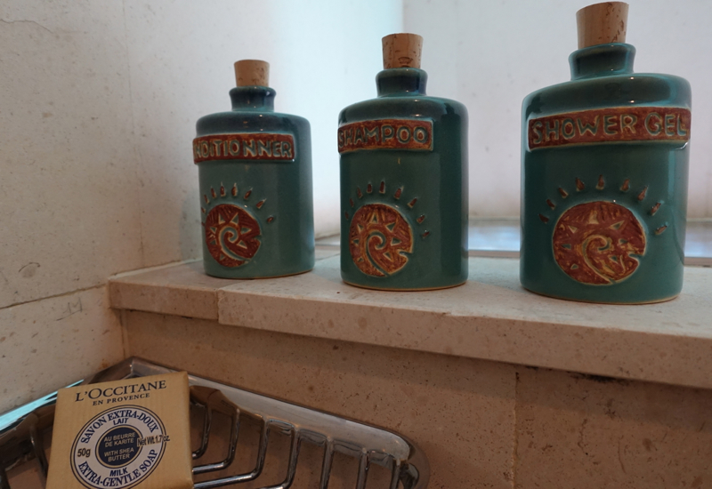 L'Occitane Bath Products in Eco-Friendly Containers, Four Seasons Bora Bora Review