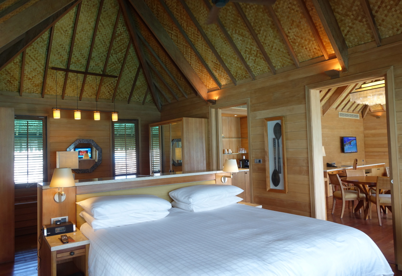 Four Seasons Bora Bora Otemanu Overwater Bungalow Suite with Plunge Pool Bedroom