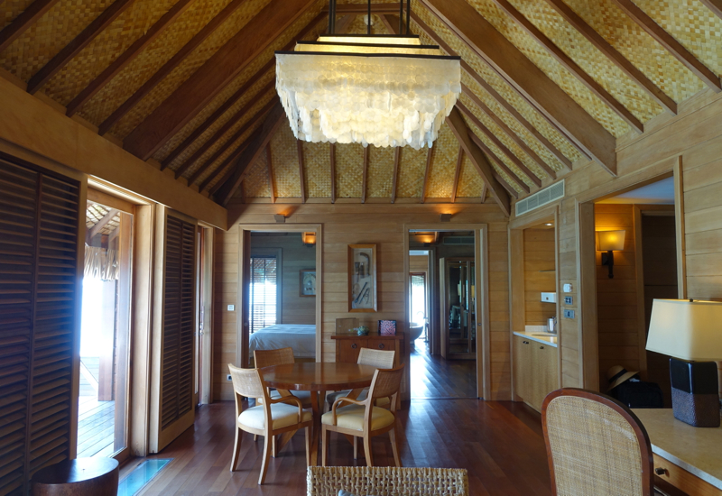 Dining Area, Otemanu Overwater Bungalow Suite with Plunge Pool, Four Seasons Bora Bora Review