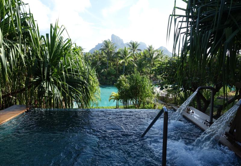 Four Seasons Bora Bora Spa Plunge Pool Review