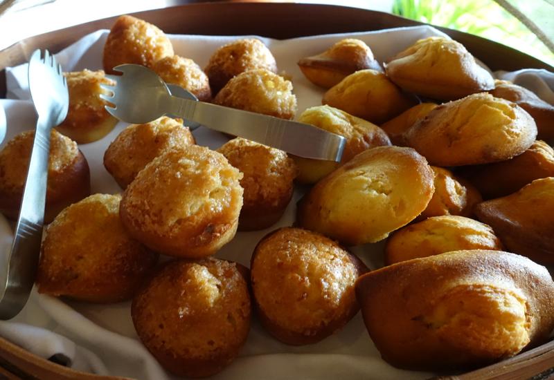 Financiers and Madeleines, Four Seasons Bora Bora Breakfast