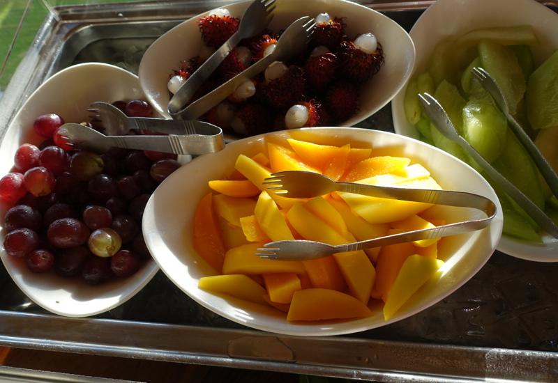 Breakfast Fruit, Four Seasons Bora Bora Restaurant Review