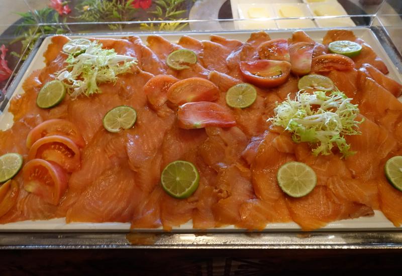 Smoked Salmon, Breakfast Buffet at Four Seasons Bora Bora