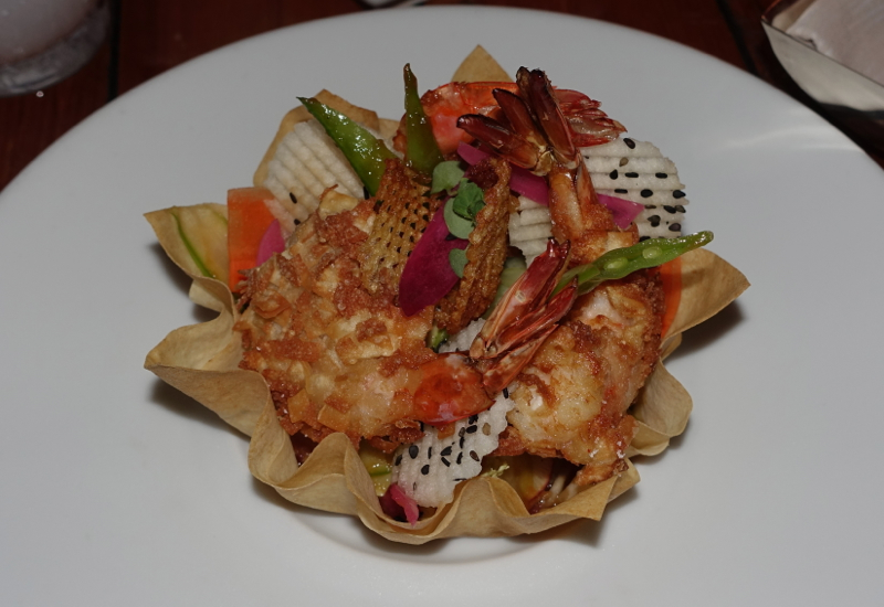 Crispy Moorea Shrimp, Four Seasons Bora Bora Arii Moana Review