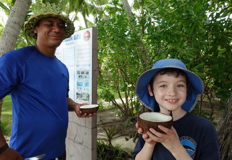 Learn How to Open a Coconut in Bora Bora