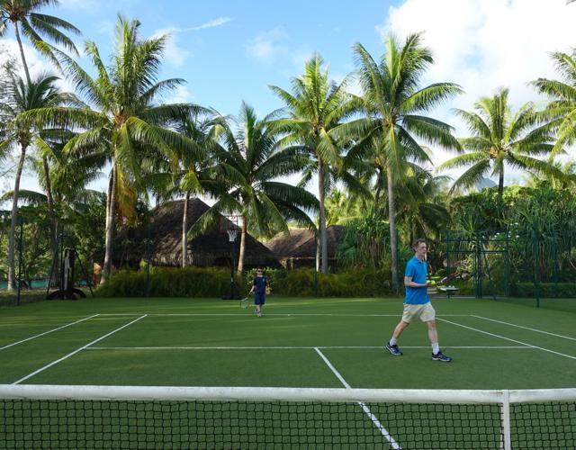 Play Tennis at Four Seasons Bora Bora