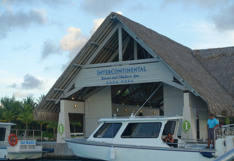 Review-InterContinental Bora Bora-Boat Jetty