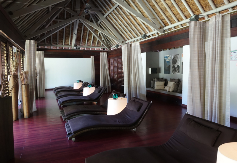 InterContinental Bora Bora Spa Review-Relaxation Room