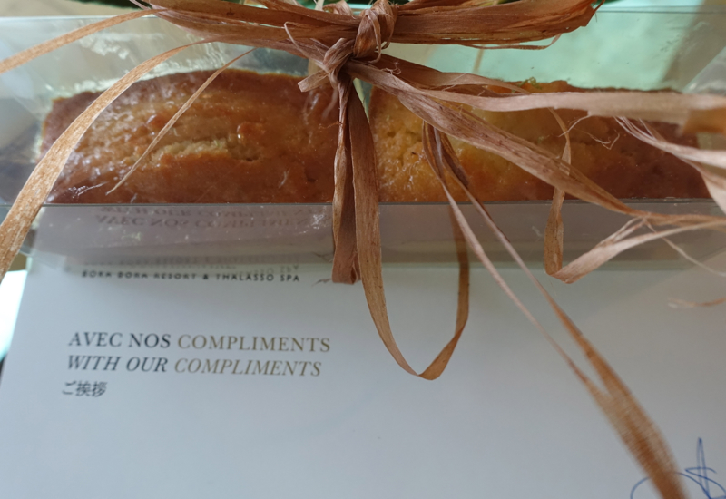 Welcome Cakes, InterContinental Bora Bora Review