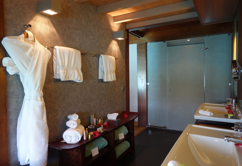 Overwater Villa Bathroom, InterContinental Bora Bora Review