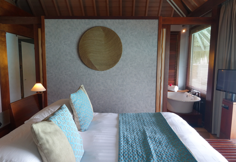 Overwater Villa Bedroom, InterContinental Bora Bora Review