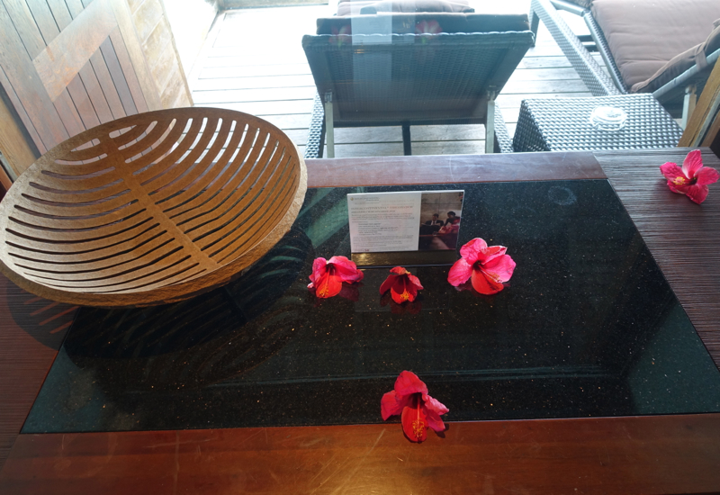 Entrance Hall Table, InterContinental Bora Bora Thalasso Review