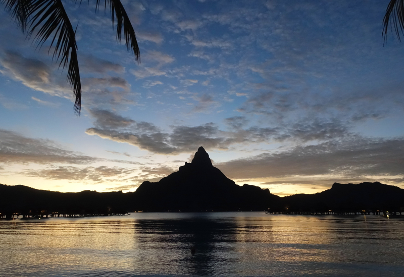 Sunset, InterContinental Bora Bora Thalasso Review