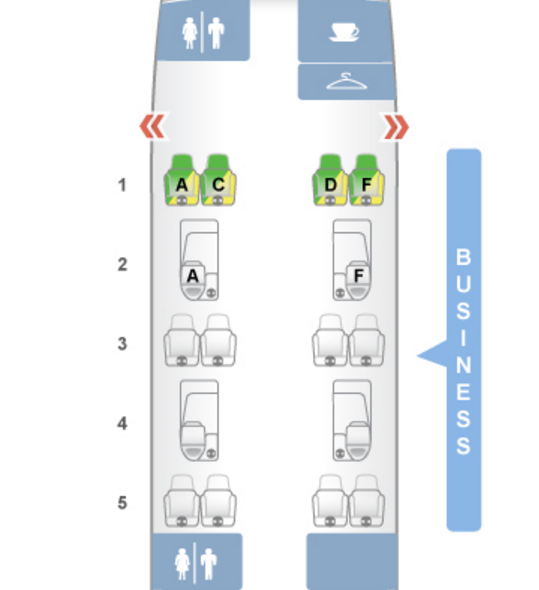 JetBlue Mint Or American A Business Class Which Is Better - Us airways a321 seat map