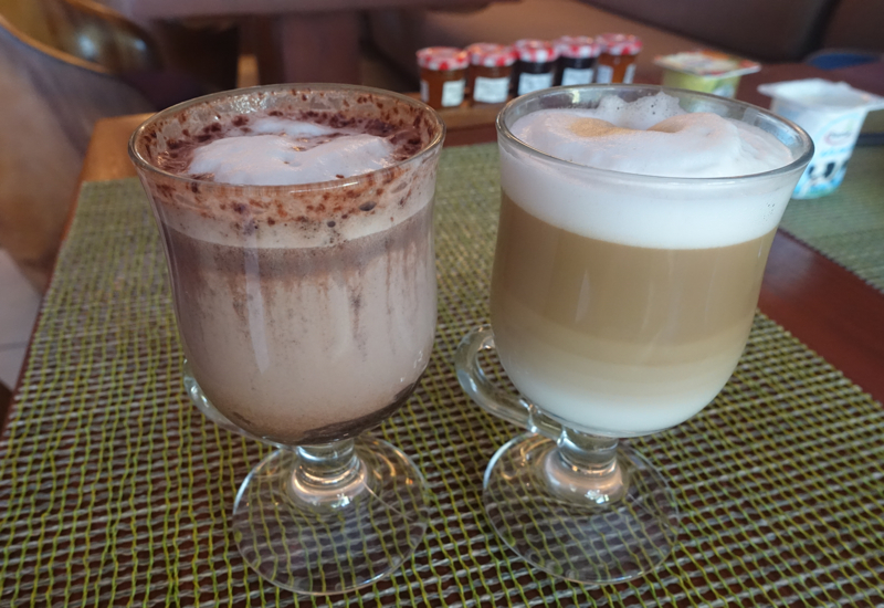 Machine Made Cappuccino and Hot Chocolate, InterContinental Bora Bora Thalasso Review