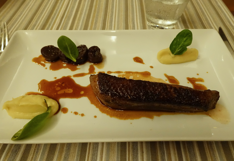 Roasted Duck with Parsnip and Figs, InterContinental Bora Bora Thalasso Review