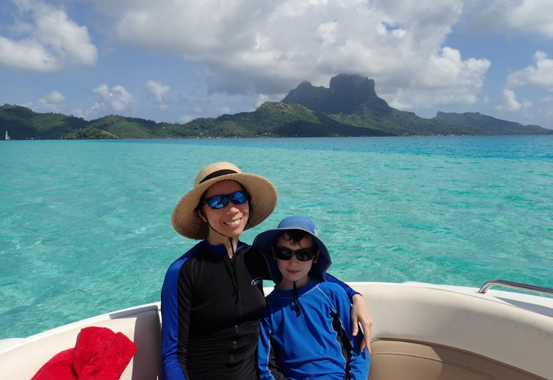 Enjoying Our Boat Ride, Pure Snorkeling Review, Bora Bora