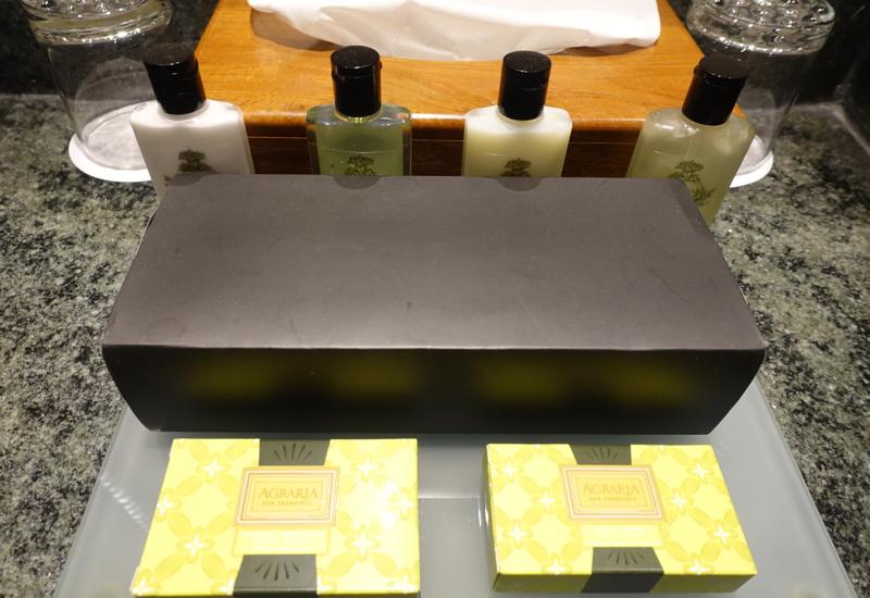 InterContinental Tahiti Review-Agraria Lemon Verbena Bath Products