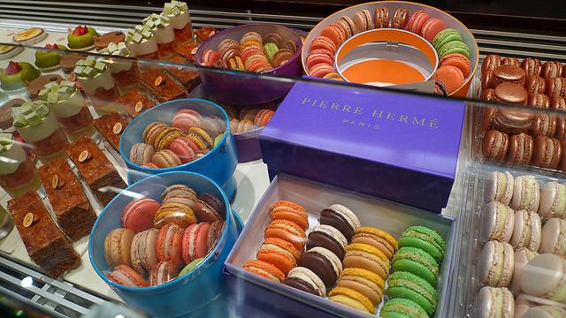 Pastries and macarons, Pierre Hermé Paris, France