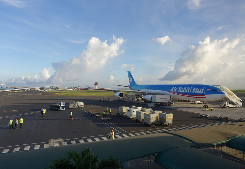 View from Papeete Business Class Lounge