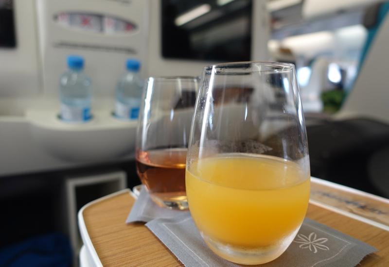 Pre-Flight Drinks, Air Tahiti Nui Business Class Review