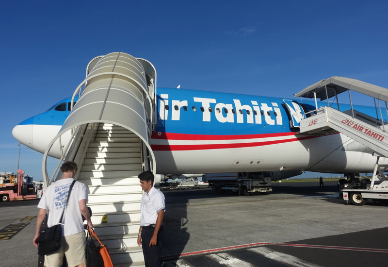 Air Tahiti Nui Business Class Review-Boarding from Tarmac