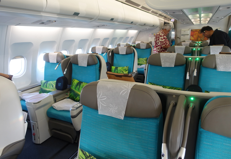 Air Tahiti Nui Business Class Cabin, A340-300 Review