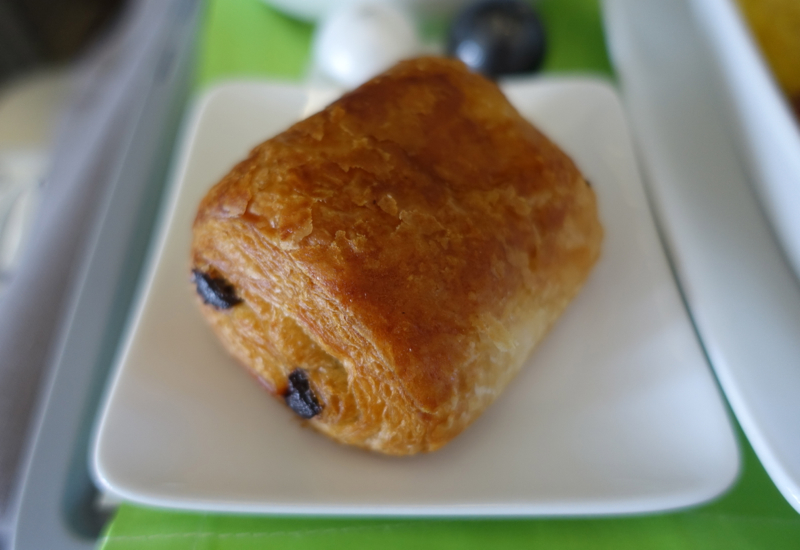 Pain au Chocolat Pastry, Air Tahiti Nui Business Class Review