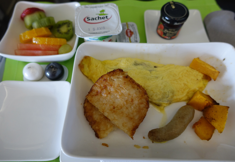 Air Tahiti Nui Business Class Breakfast Review