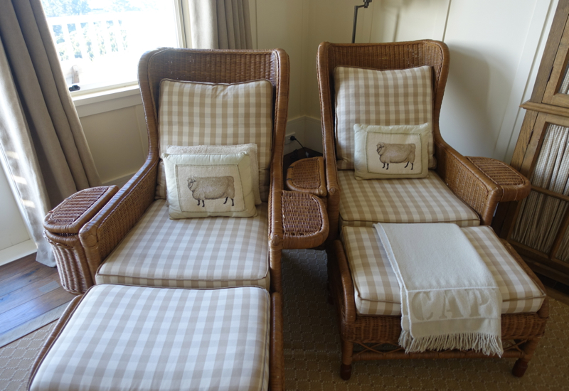 Lodge Suite Lounge Chairs, The Farm at Cape Kidnappers Review