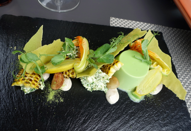 Courgette Flower and Buffalo Ricotta Appetizer, Elephant Hill Review