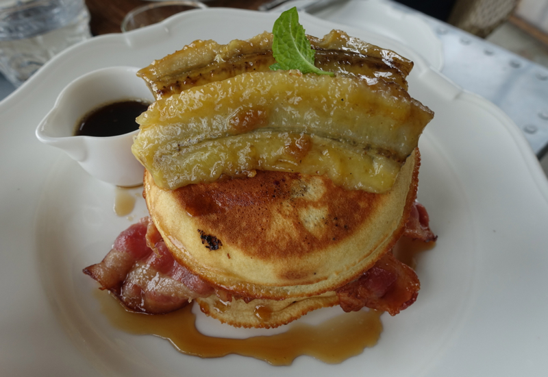 Blueberry Pancakes with Bacon, The Farm at Cape Kidnappers Review