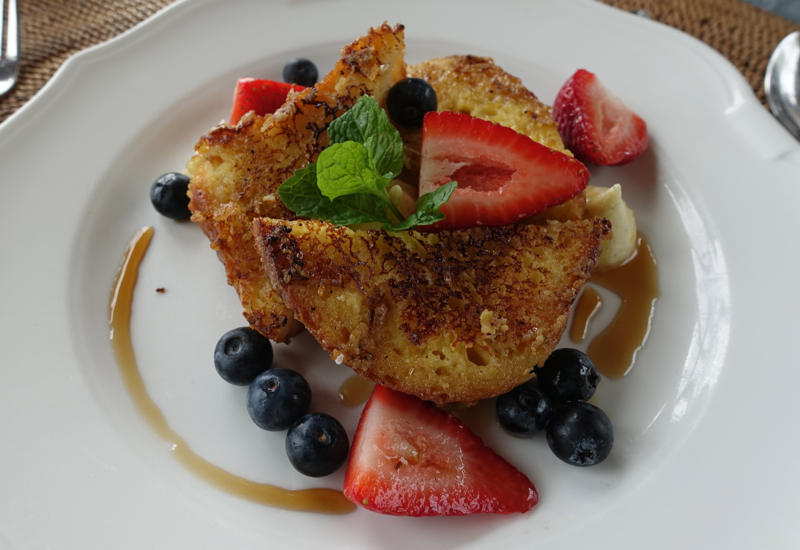 Brioche French Toast, The Farm at Cape Kidnappers Breakfast Review