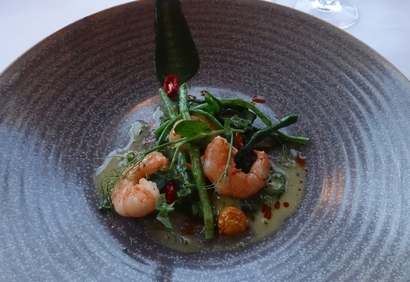 Garlic Grilled Prawns, The Farm at Cape Kidnappers Dining Review