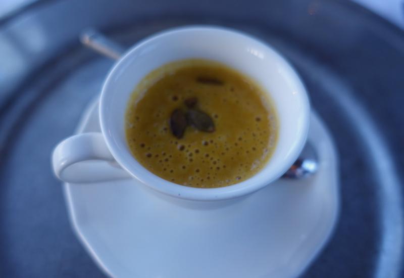Pumpkin Soup Amuse Bouche, The Farm at Cape Kidnappers Restaurant Review