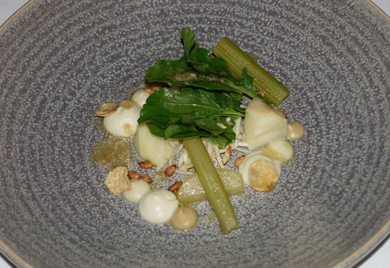 Celeriac Variations Appetizer, The Farm at Cape Kidnappers Dining Review