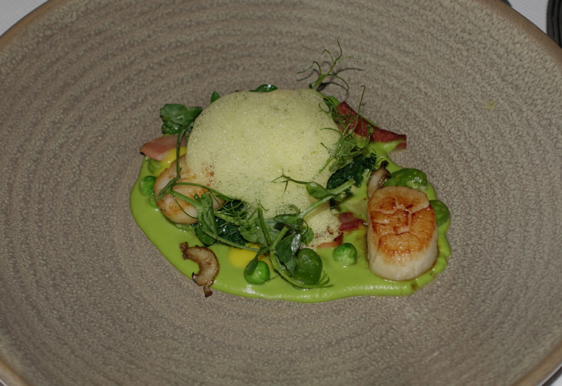 Seared Scallop Appetizer, The Farm at Cape Kidnappers Dining Review