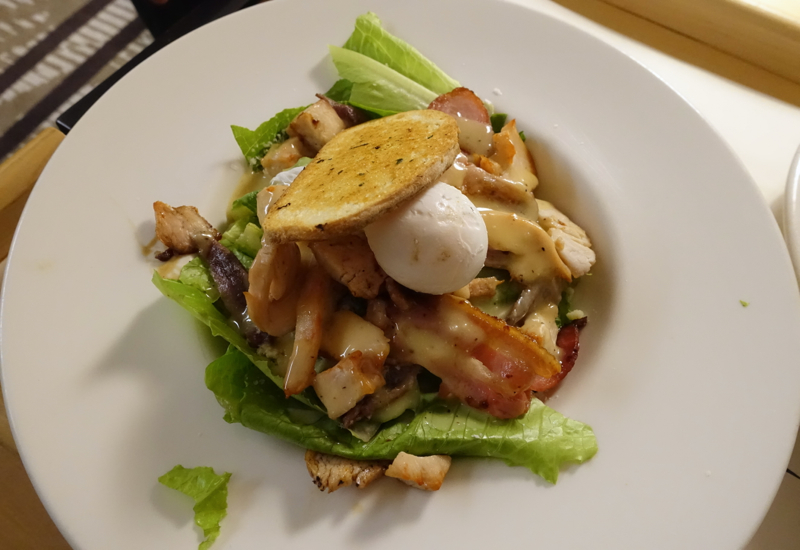 Dinner Salad, Novotel Auckland Airport Hotel Review