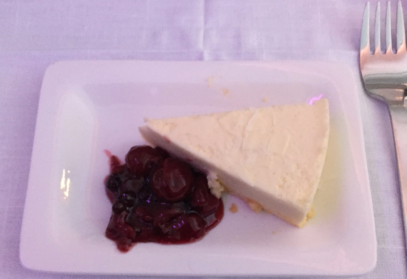 Air New Zealand Business Premier Dessert-White Chocolate Cheesecake