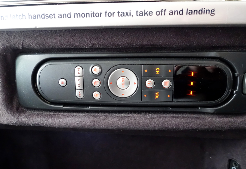 Air New Zealand Business Premier Review: Seat Controls