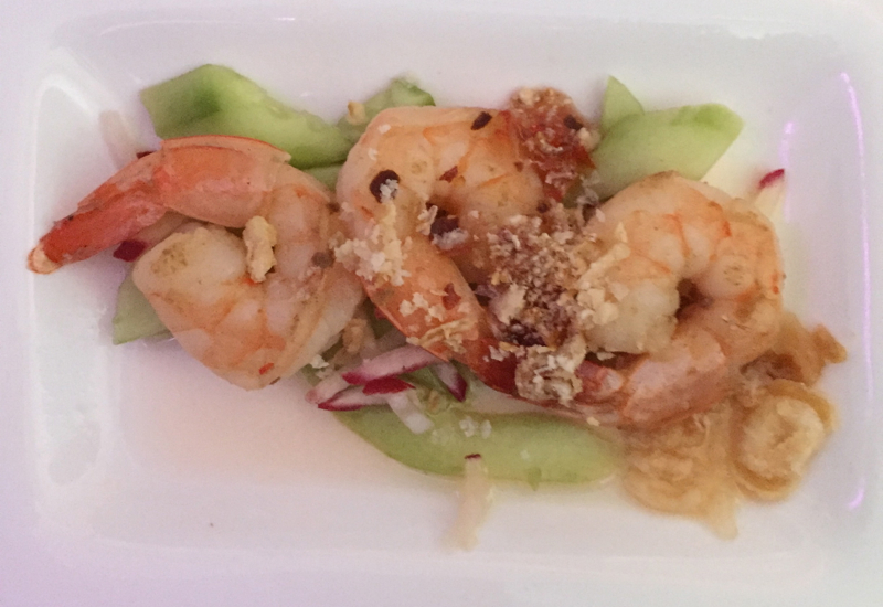 Air New Zealand Business Premier Food Review: Thai Marinated Prawns