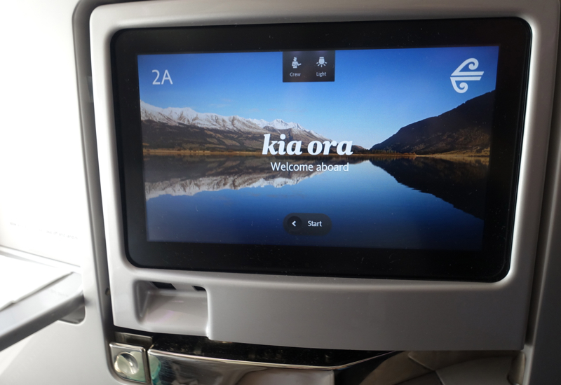 Air New Zealand Business Premier IFE Screen Review