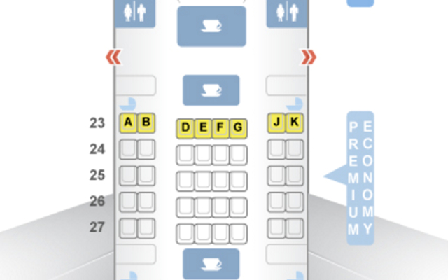 Air New Zealand Premium Economy Seat Map 777-200ER