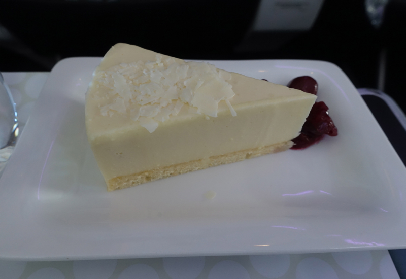 Dessert, Air New Zealand Premium Economy Review