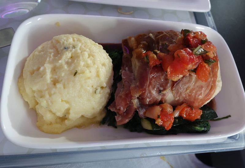 Prosciutto Wrapped Chicken, Air New Zealand Premium Economy Review