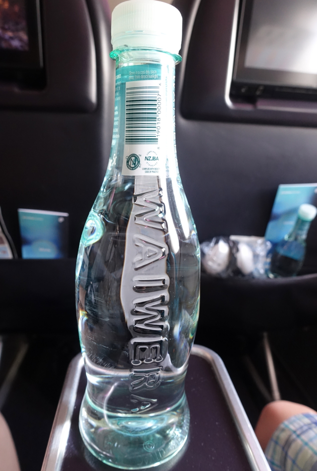 Waiwera Bottled Water, Air New Zealand Premium Economy Review