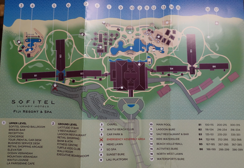 Sofitel Fiji Resort Map
